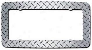 Cruiser Rhombus Plate Chrome License Plate Frame