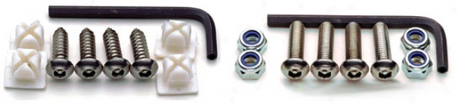 Cruiser Importance Models Locking License Plate Fasteners