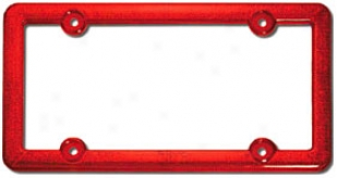 Criser Red Reflector License Frame