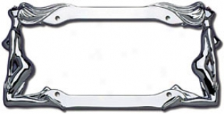 Cruiser Twins Chrome License Plate Frame