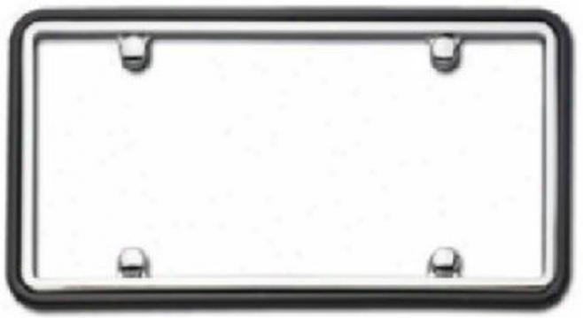 Cruiser Two Tnoe Chrome/black License Plate Frame