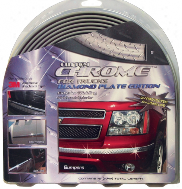 Custom Chrome Diamond Plate Exterior Molding For Trucks - 2''