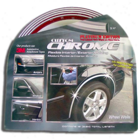 Custom Chrome Flexible Interior/exterior Molding 3/4''
