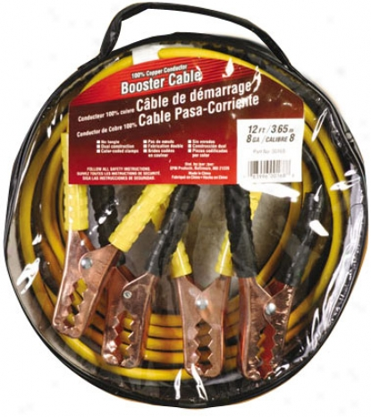 Deka Medium Service Jumper Cables (12', 8-gauge)