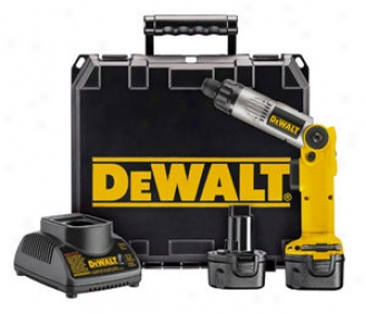 Dewalt 7.2v Heavy-duty Vsr Scrswdriver Kit With 2 Batteries