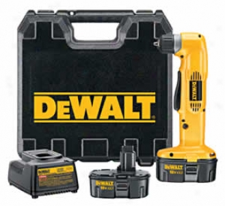 Dewalt Heavy-duty 3/8'' 18v Cordless Right Angle Drill/driver Kit