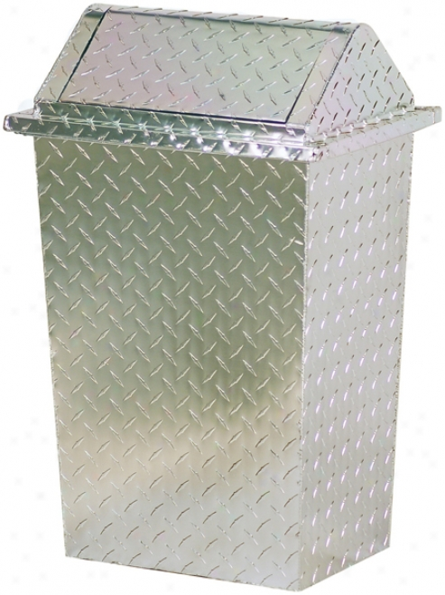 Diamond Plated Trash Cans