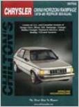 Dodge Chrager/omni/horizon/rampage (1978-89) Chilton Manual