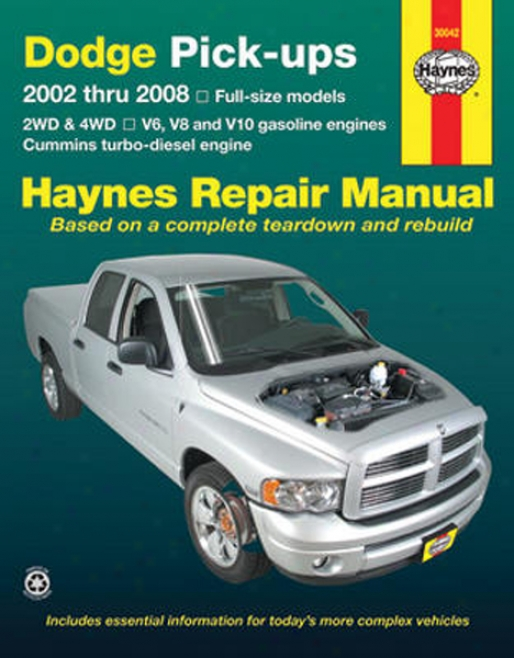 Dodge Full-size Pick-ups Haynes Repair Of the hand (2002-2008)