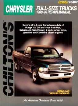 Dodge Full-size Trucks (1989-96) Chilton Manual