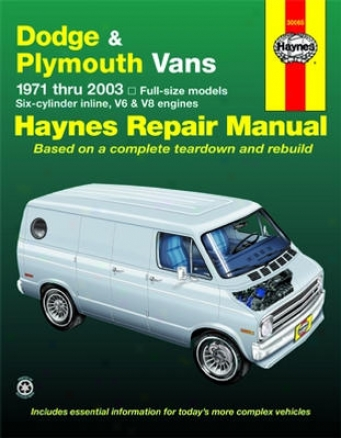 Dodge & Plymouth Full-size Vans Haynes Repair Of the hand (1971 - 2003)
