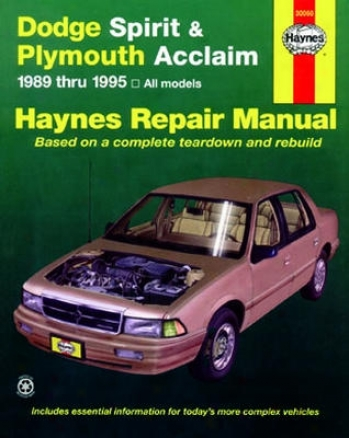 Dodge Spirit & Plymouth Acclaim Haynes Reoair Manual (1989 - 1995)