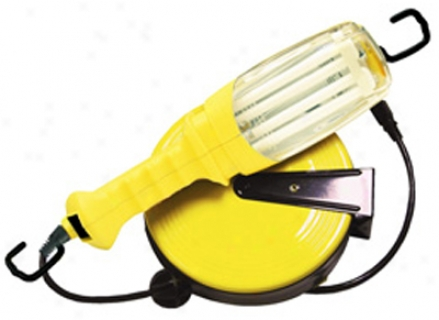 Coupled Britw Fluorescent Retractable Work Light (40ft Cord)