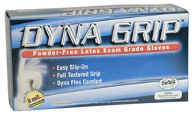 Dyna Grasp 8 Mil Latex Gloves - Medium; 100 Count