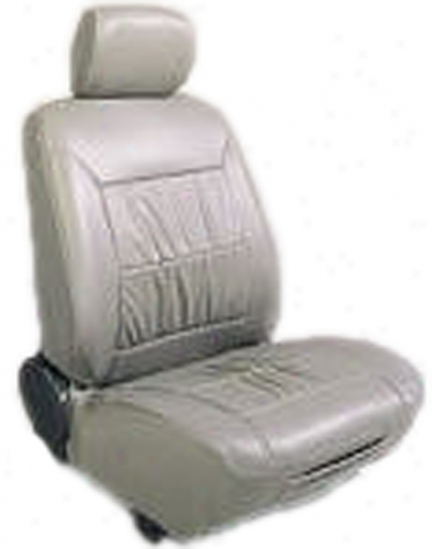 Echo Simulated 303 Gray Low-back Leather Seat Cover