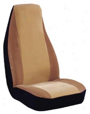Elegant Suede Tan Seat Cover