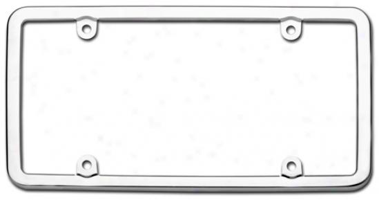 Elite Stainless Steel License Plate Frame