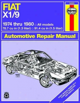 Fiqt X1/9 Haynes Repair Manual (1974 - 1980)