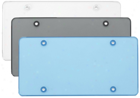 Flat License Plate Shields