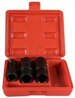 Flip Impact Socket Set - 3 Pc., Fartional & Metric