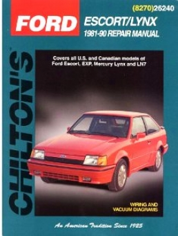 Ford Escort/mercury Lynx (1981-900) Chilton Manual