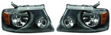 Ford F-150 Blackout Repkaxement Headlam; Kit (2004-2008)