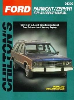Ford Fairmont/mercury Zephyr (1978-83) Chilton Manual