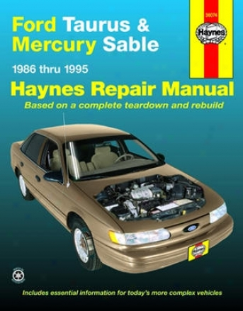 Wade through Taurus & Mercury Sable Haynes Repair Manual (1986 - 1995)