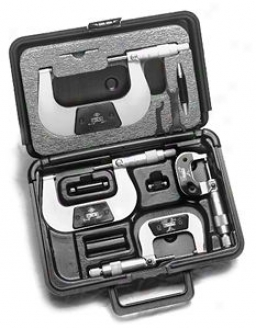 Fowler 4 Piece Swiss Style Micrometer Set - 0-4''-0.0001''