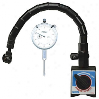 Fowler Dial Indicator Gage Set With Flexible Arm And Magnetic Base