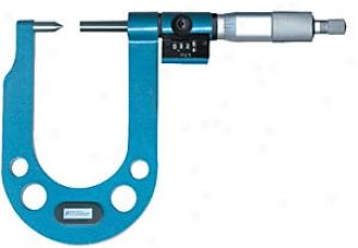 Fowler Digital Disc Brake Deep Micrometer; Fractional