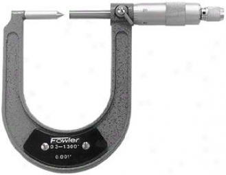 Fowler Disc Thicket Deep Micrometer; 0.300-1.300''