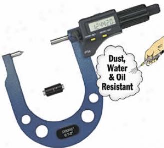 Fowler Extended Range Electronic Brake Roto5 Micrometer; 0.3'' To 1.7'' Range