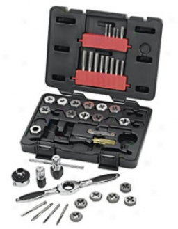 Gearwrench 40 Piece Rap & Die Set - Metric With Ratcheting T Handle