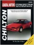 Geo Storm/specteum (1985-93) Chilton Manual