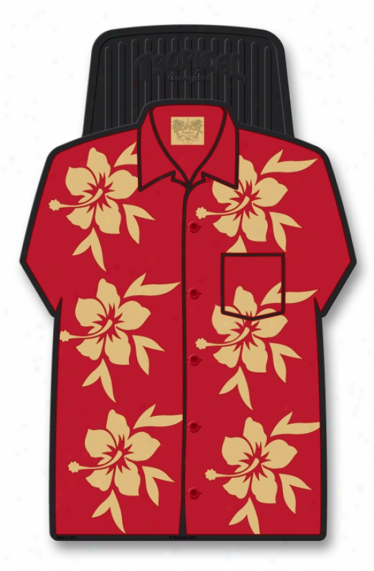 Giant Red Aloha Shirt Floor Mats