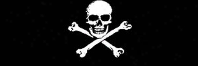 Gladscapes Jolly Roger Flag Decal