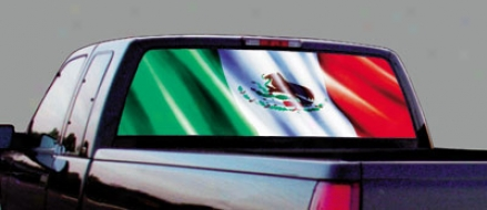 Glasscapes Mexican Flag Decal