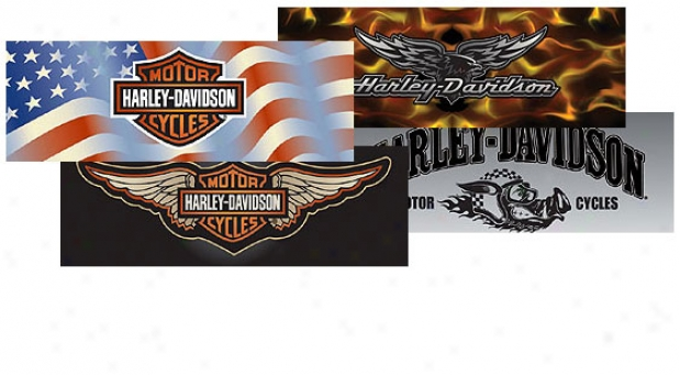 Glasscapes Official Harley-davidson Rear Window Decals