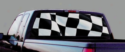 Glasscapwq Racing Checkered Flag Decal