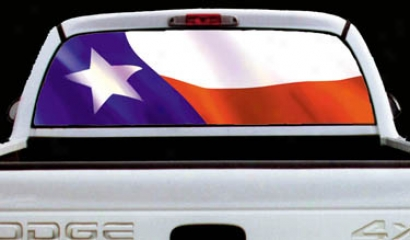 Glasscapes Texas Flag Decal