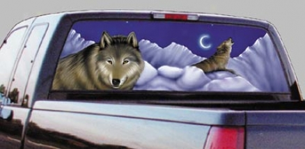 Glasscapes Wolf Decal