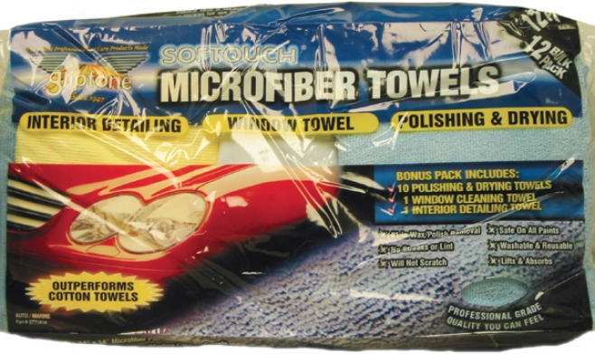 Gliptone Softouch Microfiber Toweo Precise signification Pack (12 Towels)