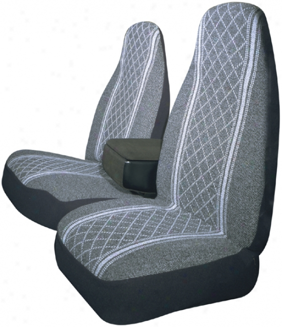 Gray Diamond-back 60/40 Tuck Bucket Seat Cover