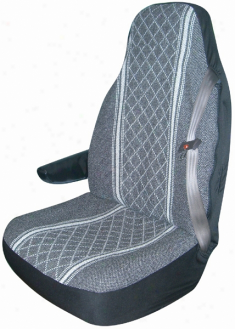 Gray Diamond-back Truck Bucket Seat Cover (pair)