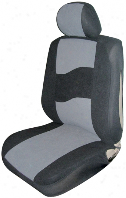 Gray Low Move Side Air Bag Bucket Seat Cover (pair)