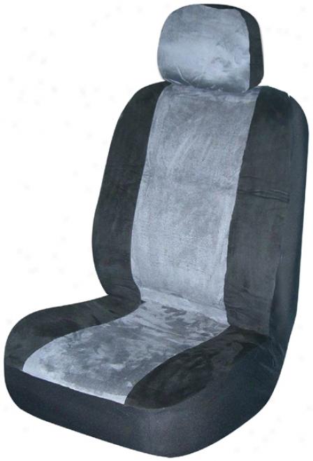 Hoary Memory Foam Low-back Bucket Seat Cover