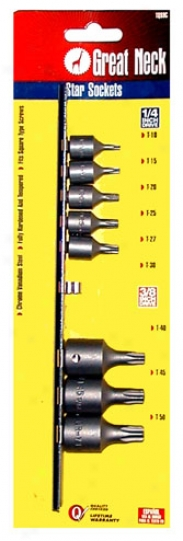 Great persons Neck 9 Pc. Star Socket Set