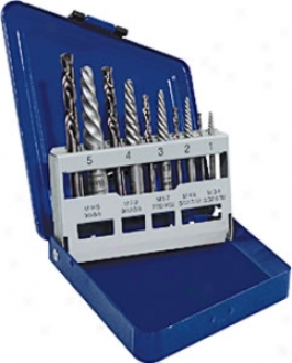 Hanson Screw Extractor And Left-hand Cobalt Drill Bit Set - 10 Pc.
