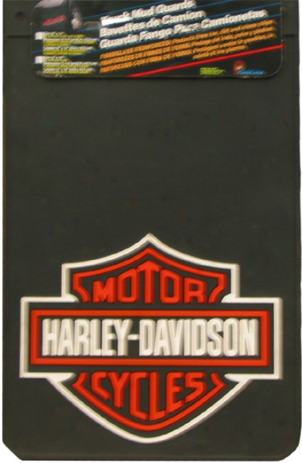 Harley Davidson 12'' X 18'' Mud Guard (pair)